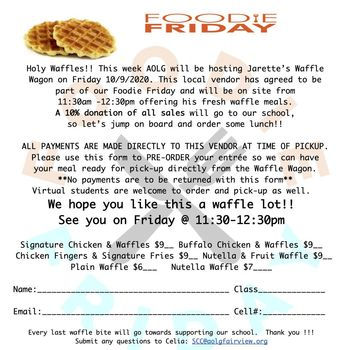 FOODIE FRIDAY!! 10/9