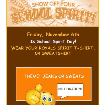 SCHOOL SPIRIT DAY