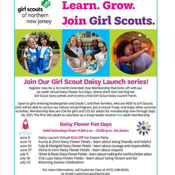 Girl Scouts Daisy Registration - 2020