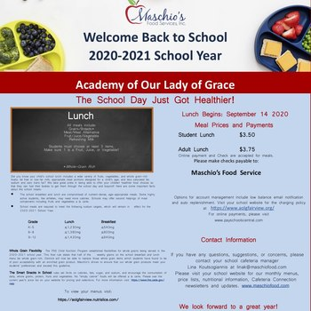 Maschio's 2020-2021 Lunch Changes