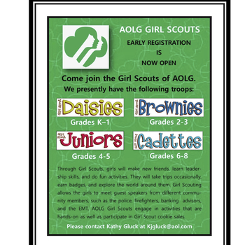 Girl Scout Registration NOW OPEN!