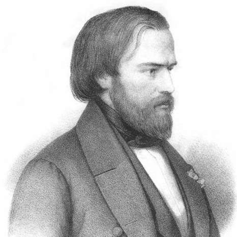 BLACK AND WHITE IMAGE OF BLESSED Frederic Ozanam