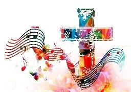 Image of Cross and music notes