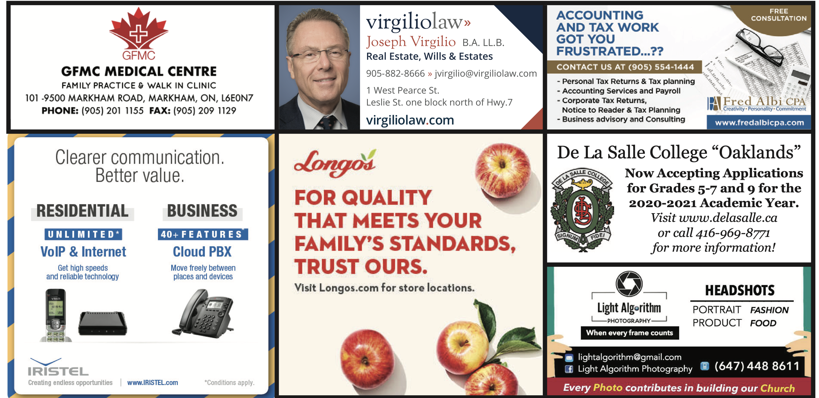 Images of various ads for our supporters
