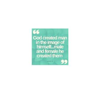Gender equality and God's creation