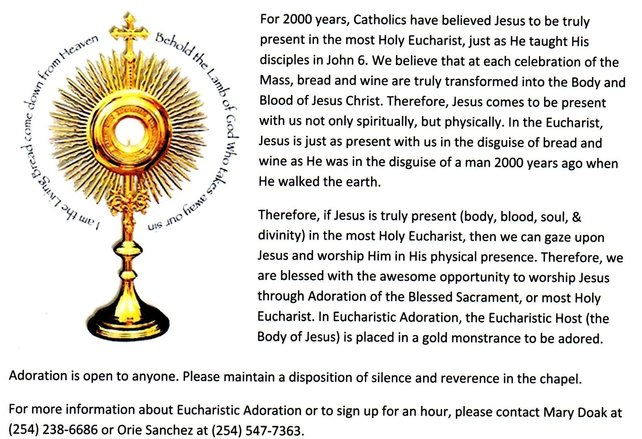 Eucharistic Adoration Holy Family Catholic Church