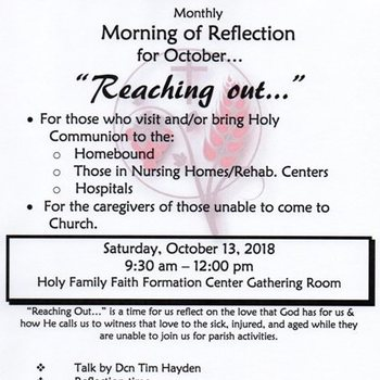 Monthly Morning of Reflection