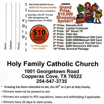 Silent Auction and Fall Fest Raffle Drawing