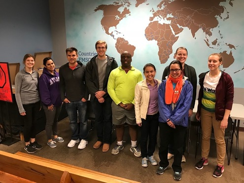 Frassati Society of Minnesota volunteering at Feed My Starving Children