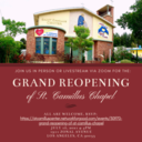 GRAND REOPENING OF ST. CAMILLUS CHAPEL