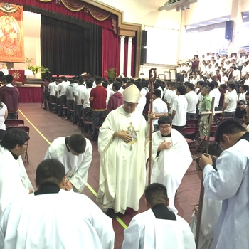 Archbishop Celebrates Mass with FD Friars