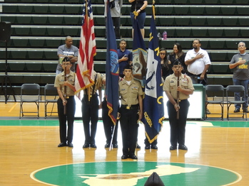 Phoenix Company Cadets Performed at UOG Calvo Field House