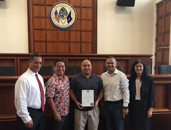 34th Guam Legislature Honors Eddie Pelkey