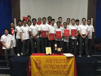 Spanish Honor Society Induction Ceremony 2018