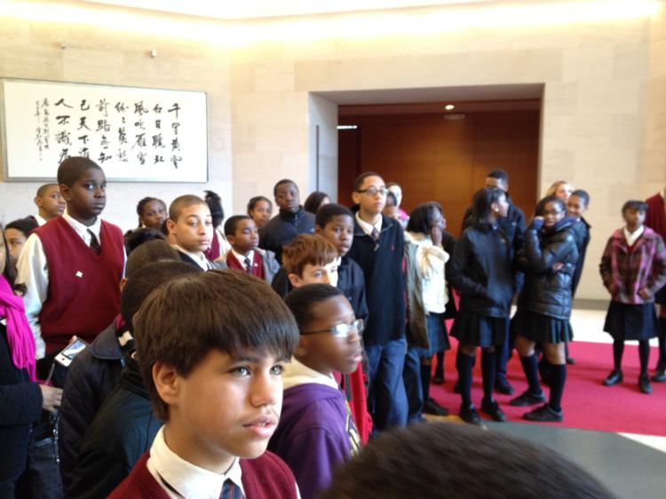 Junior High Students Visit Chinese Embassy