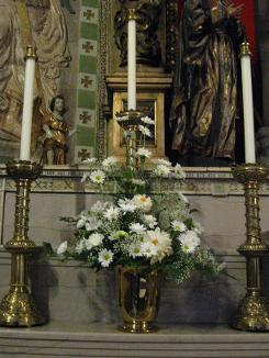 Photo of Flowers on Main Altar