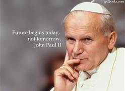 Right now we are studying Blessed St John Paul II's Letter to Women, Mulieris Dignitatem!