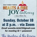 JOY Gathering Sunday 10/18, 2PM via Zoom