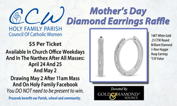 CCW Mother's Day Diamond Earring Raffle