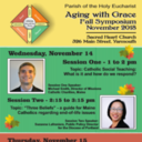 Aging With Grace Fall Symposium at Sacred Heart