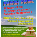 Signup for Annual Parish Picnic