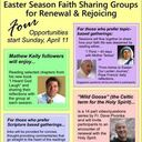 Easter Season Small Faith Sharing Groups - Sessions Morning or Evening