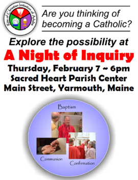 Are you or someone you know considering becoming Catholic?