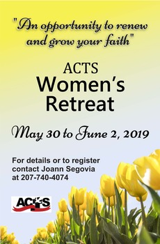 POTHE 2019 Women's ACTS Retreat, May 30-June 02