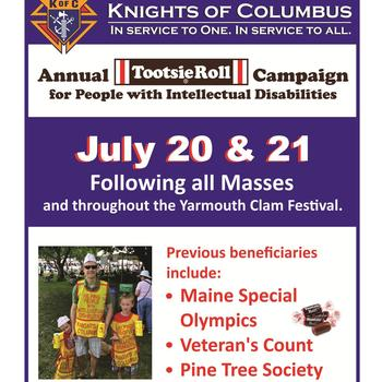 Knights of Columbus Tootsie Drive Thank You!