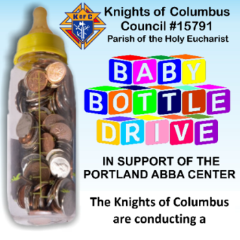 Please support the Falmouth KOC 'Virtual' Baby Bottle Drive