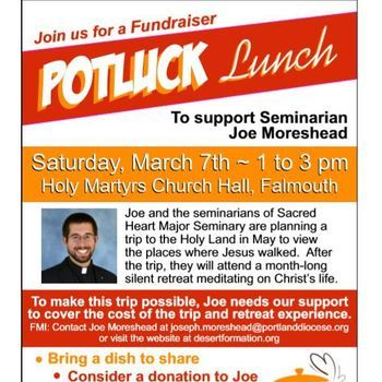 Potluck Fundraiser at Holy Martyrs on Saturday, March 7th 1-3pm