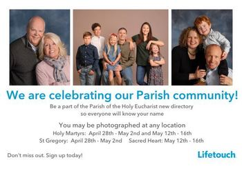 New!! POTHE Parish Directory: photo shoots begin April 28th