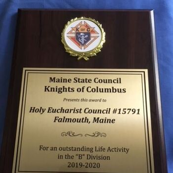POTHE Knights of Columbus acknowledged for their Service to the Community!!