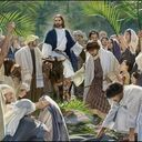 HOLY WEEK - PALM SUNDAY STANDING BY JESUS