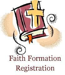 Faith formation open enrollment after all masses today!