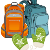 Backpacks for the Homeless Due back to St. Clare today