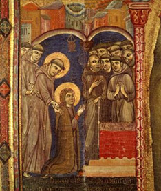 St. Clare receives her habit