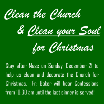 Clean & Decorate Church