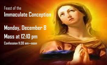 Feast of Immaculate Conception Mass