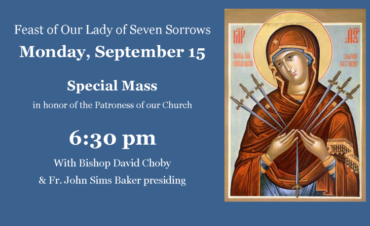 Mass for Feast of Our Lady of Seven Sorrows