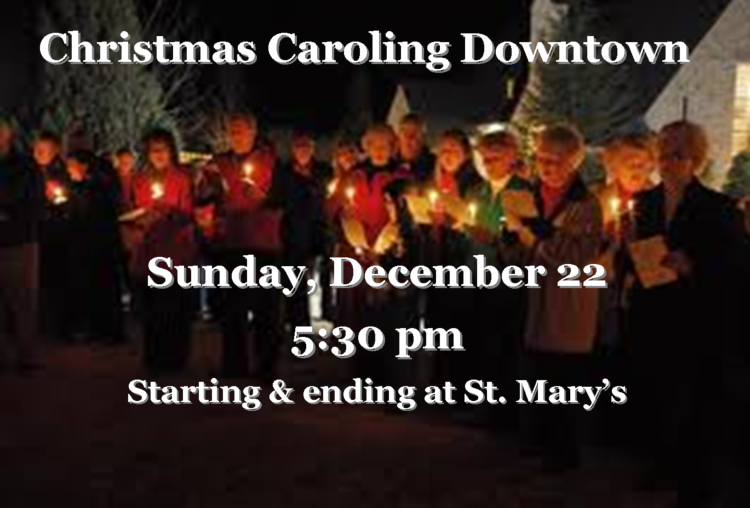 Christimas Caroling Downtown