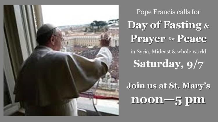 Day of Fasting & Prayer for Peace