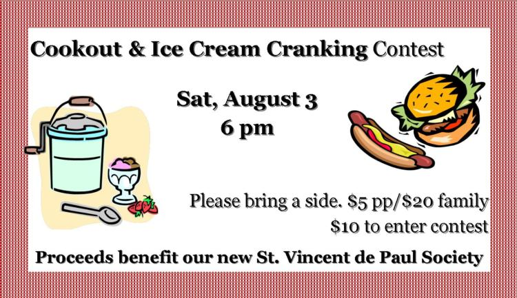 Cookout & Ice Cream Cranking Contest