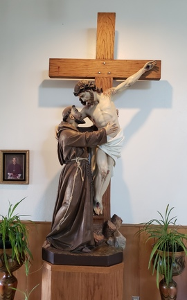 Saint Francis of Assisi at the Foot of the Cross