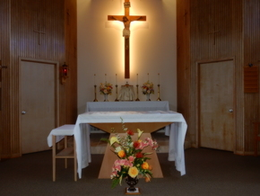 Come for Mass in our Retreat Chapel