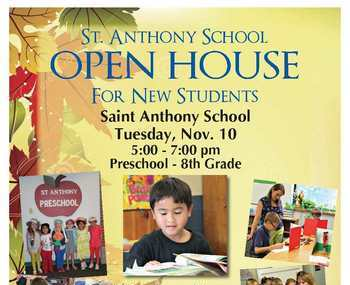 St. Anthony School Fall Open House