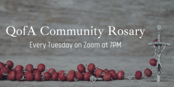 SFT Community Rosary on Zoom at 7pm