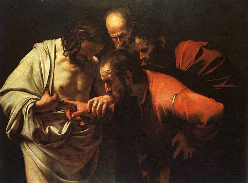 The Incredulity of St. Thomas by Carvaggio
