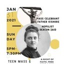 Teen Mass & Gathering