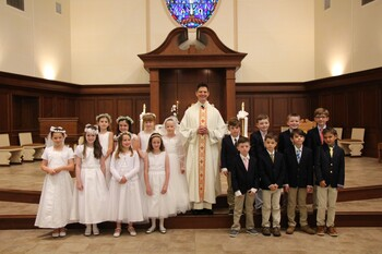 First Communion at Most Precious Blood